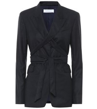 Gabriela Hearst Exclusive To Mytheresa Nutter Wool And Silk Blazer Blue