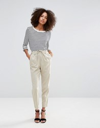 Only Summer Linen String Pants Feather Grey Beige