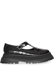 Burberry Patent Leather T Bar Shoes Black