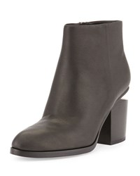 Alexander Wang Gabi Tilt Heel Leather Boot Black Rhodium