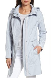 Cole Haan Signature Women's Back Bow Packable Hooded Raincoat Mist
