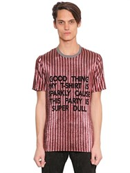 House Of Holland Good Thing Striped Lurex T Shirt