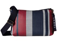 Tommy Hilfiger Classic Woven Pvc Crossbody Navy Multi Cross Body Handbags