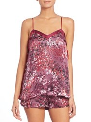 Josie Natori Printed Camisole And Shorts Plum