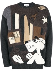 Jc De Castelbajac Vintage Pink Panther Sweater Brown