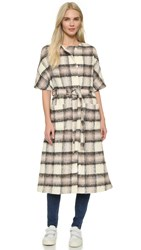 M.Patmos Zurs Coat Neutral Plaid