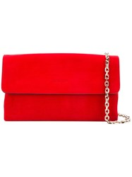 Casadei Chain Flap Bag Women Chamois Leather Satin One Size Red