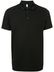 Attachment Short Sleeved Polo Shirt Black