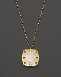 Roberto Coin 18K Yellow Gold And Mother Of Pearl Pois Moi Pendant Necklace 17