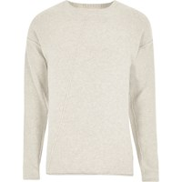 Only And Sons River Island Beige Knit Jumper