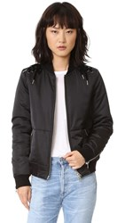 Pam And Gela Lace Up Bomber Jacket Black