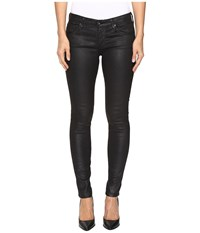 Ag Adriano Goldschmied Leggings Ankle In Crackle Black Crackle Black Women's Jeans Bronze