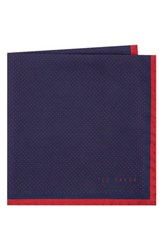 Ted Baker London Triangle Pocket Square Red