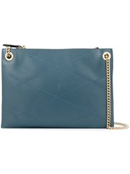 Lanvin 'Sugar' Zipped Shoulder Bag Blue