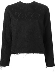 Aries Embroidered Top Black