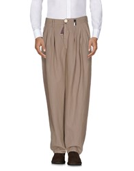 High Casual Pants Khaki