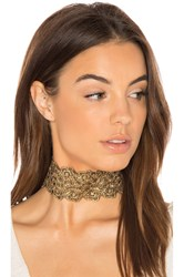 Vanessa Mooney Mera Choker Metallic Gold