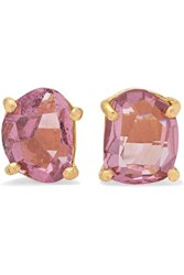Pippa Small 18 Karat Gold Spinel Earrings Pink