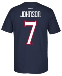 Reebok Men's Jack Johnson Columbus Blue Jackets Player T Shirt Navy