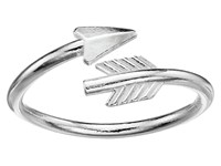 Alex And Ani Love Struck Arrow Wrap Ring Silver Ring