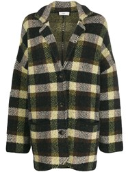 Closed Oversized Checked Jacket Black