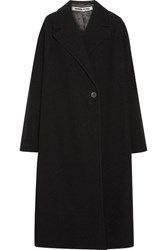 Mcq By Alexander Mcqueen Oversized Wool Boucle Coat Black