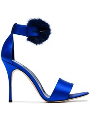 Manolo Blahnik Trespola 105 Sandals Blue