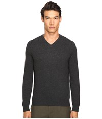 Vince Cashmere Long Sleeve Crew Neck Sweater Heather Shadow Men's Sweater Black