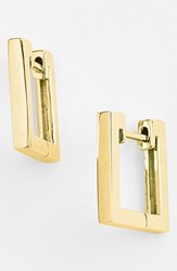 Women's Bony Levy Small Square Hoop Earrings Yellow Gold Nordstrom Exclusive