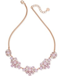 Charter Club Crystal And Stone Collar Necklace Created For Macy's Pink