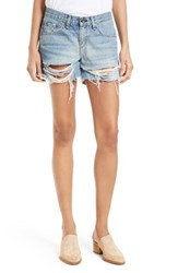 Rag And Bone Women's Jean Ripped Boyfriend Shorts