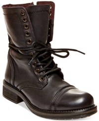 Steve Madden Tropa 2.0 Combat Boots Women's Shoes Brown