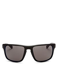Hugo Boss Sport Wrap Rectangle Sunglasses 58Mm Soft Black