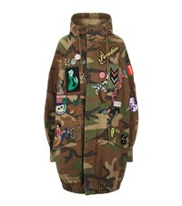 Marc Jacobs Camouflage Hooded Anorak Female Green