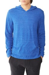 Alternative Apparel Men's 'Marathon' Hoodie Eco True Pacific Blue