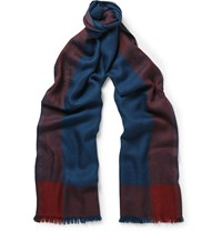 Loro Piana Exmoor Cashmere And Silk Blend Scarf Blue