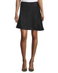 Halston Beaded A Line Skirt Black