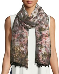 Eileen Fisher Hand Loomed Dyed Silk Scarf Rye