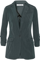Elizabeth And James Relaxed Jamie Cotton Blend Blazer Green