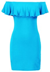 Missguided Jersey Dress Teal Green