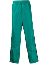 Acne Studios Contrasting Stripe Track Trousers Green