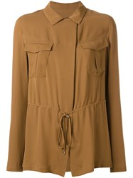 Theory Drawstring Shirt Brown