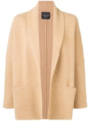 Roberto Collina Draped Fitted Coat Brown