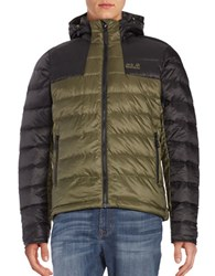 Jack Wolfskin Greenland Down Puffer Jacket Burnt Olive