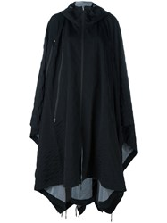 Y 3 Oversized Hooded Poncho Black
