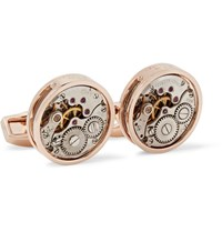 Tateossian Skeleton Rhodium Plated Cufflinks Rose Gold