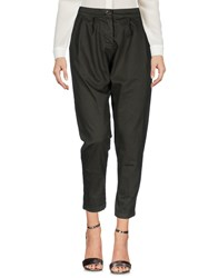 Boutique De La Femme Casual Pants Military Green