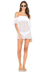 Milly Flutter Sleeve Cover Up White