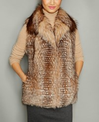 The Fur Vault Fox Vest Crystal