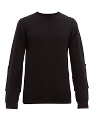 Wardrobe.Nyc Wardrobe. Nyc Elbow Patch Wool Blend Sweater Black